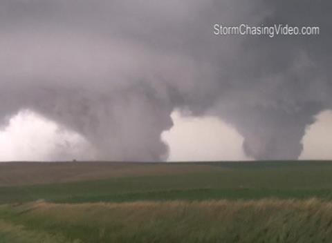 News video: Twin Tornadoes Touch Down in Nebraska